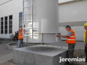 instalacja komina przemysłowego
