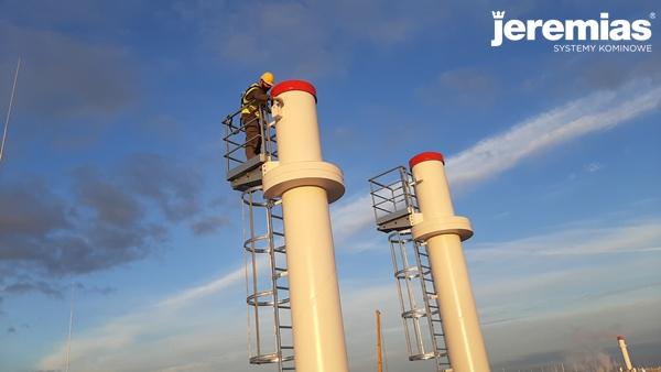 wyprawki montażowe - komin przemysłowy
